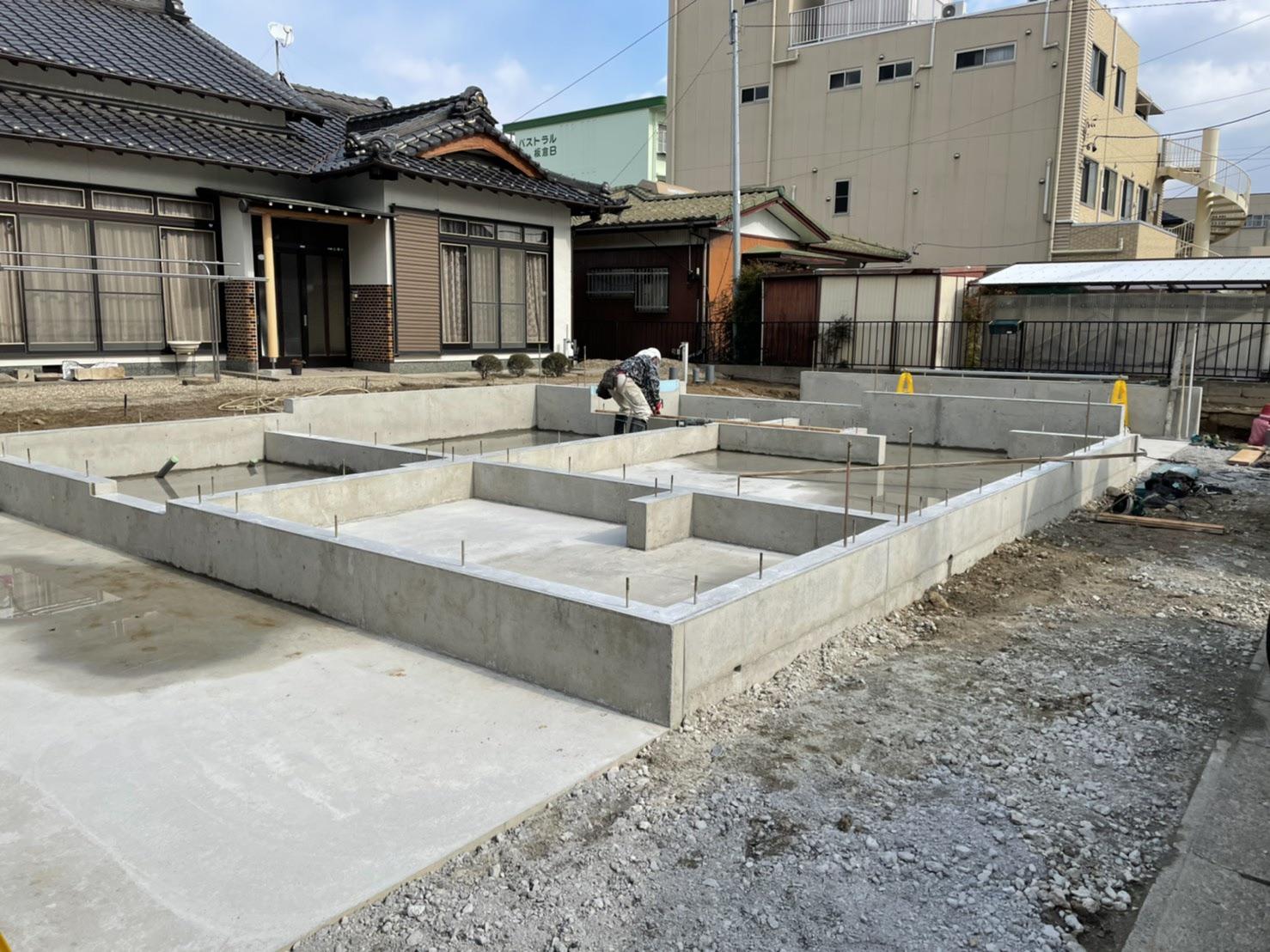 刈谷市Y様邸 基礎工事完了画像